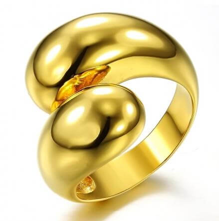 stainless steel 18k gold ring Supply